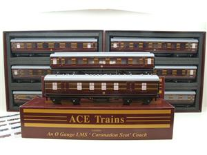 Ace Trains O Gauge C28 A & B Sets & C28K Kitchen & C28 Open 3rd LMS Maroon Coronation x8 Coaches image 1