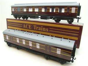 Ace Trains O Gauge C28 A & B Sets & C28K Kitchen & C28 Open 3rd LMS Maroon Coronation x8 Coaches image 4