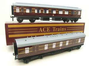 Ace Trains O Gauge C28 A & B Sets & C28K Kitchen & C28 Open 3rd LMS Maroon Coronation x8 Coaches image 6