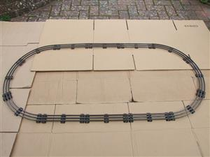 Hornby O Gauge Complete Large Oval Electric 3 Rail Tinplate Track 1ft Radius Curves image 1