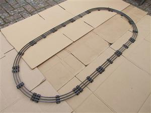 Hornby O Gauge Complete Large Oval Electric 3 Rail Tinplate Track 1ft Radius Curves image 5