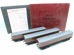 "Ace Trains O Gauge Richmond Set CIE ""LMS EMU"" Electric Multiple Unit Coach Set Electric 3 Rail Bxd image 1"