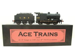 Ace Trains O Gauge E5C Fowler 4F Class 0-6-0 Loco and Tender 4454 LMS Satin Black image 1