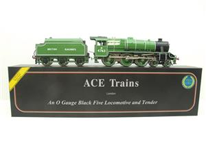 Ace Trains O Gauge E19-E BR Apple Green Black Five Loco & Tender R/N M4763 Electric 2/3 Rail Bxd image 1