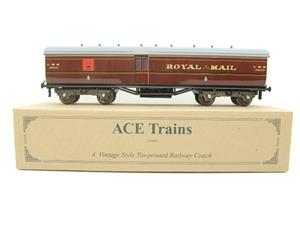 "Ace Trains Wright Overlay Series O Gauge LMS ""TPO"" Coach R/N 30233 Boxed image 1"