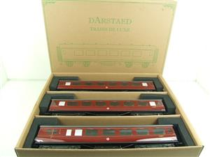 Darstaed O Gauge BR Maroon Period 2 Mainline Coaches x3 Set Bxd 2/3 Rail Set A image 1