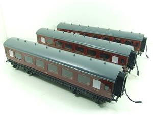 Darstaed O Gauge BR Maroon Period 2 Mainline Coaches x3 Set Bxd 2/3 Rail Set A image 2