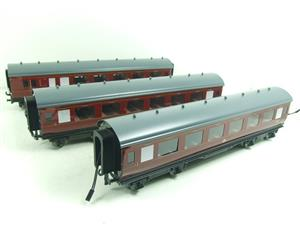Darstaed O Gauge BR Maroon Period 2 Mainline Coaches x3 Set Bxd 2/3 Rail Set A image 3