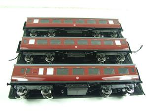 Darstaed O Gauge BR Maroon Period 2 Mainline Coaches x3 Set Bxd 2/3 Rail Set A image 8
