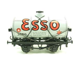 "Ace Trains O Gauge G1 Four Wheel ""Esso"" Grey Fuel Tanker Tinplate image 1"