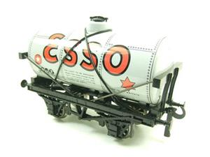 "Ace Trains O Gauge G1 Four Wheel ""Esso"" Grey Fuel Tanker Tinplate image 3"
