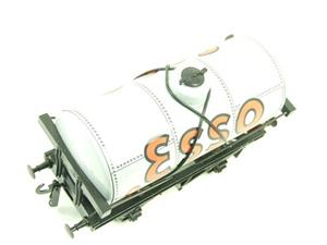 "Ace Trains O Gauge G1 Four Wheel ""Esso"" Grey Fuel Tanker Tinplate image 5"
