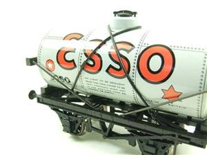 "Ace Trains O Gauge G1 Four Wheel ""Esso"" Grey Fuel Tanker Tinplate image 6"