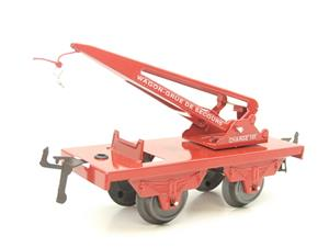 "Hornby Hachette Series French O Gauge 10 Ton ""Red Crane Truck"" Wagon NEW Boxed image 4"