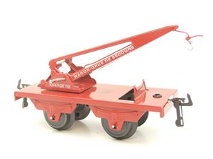 "Hornby Hachette Series French O Gauge 10 Ton ""Red Crane Truck"" Wagon NEW Boxed image 6"