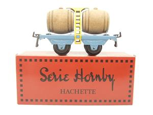 "Hornby Hachette Series French O Gauge Blue ""Wine"" Beer Double Barrel Wagon NEW Boxed image 1"
