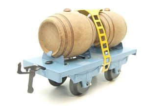 "Hornby Hachette Series French O Gauge Blue ""Wine"" Beer Double Barrel Wagon NEW Boxed image 2"