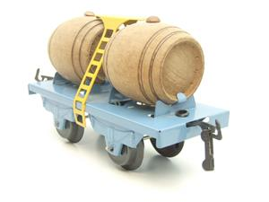 "Hornby Hachette Series French O Gauge Blue ""Wine"" Beer Double Barrel Wagon NEW Boxed image 6"
