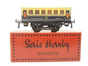 "Hornby Hachette Series French O Gauge Blue & Cream ""Pullman"" Restaurant Dining Coach NEW Boxed image 1"