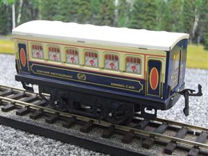 "Hornby Hachette Series French O Gauge Blue & Cream ""Pullman"" Restaurant Dining Coach NEW Boxed image 3"