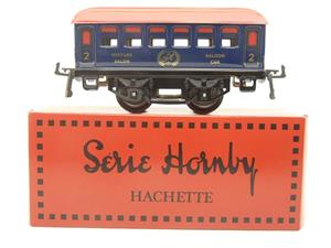 "Hornby Hachette Series French O Gauge Blue Red Roof ""Saloon"" 2nd Class Coach NEW Boxed image 1"