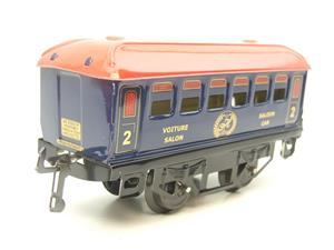 "Hornby Hachette Series French O Gauge Blue Red Roof ""Saloon"" 2nd Class Coach NEW Boxed image 2"