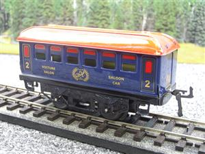 "Hornby Hachette Series French O Gauge Blue Red Roof ""Saloon"" 2nd Class Coach NEW Boxed image 3"