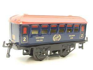 "Hornby Hachette Series French O Gauge Blue Red Roof ""Saloon"" 2nd Class Coach NEW Boxed image 4"