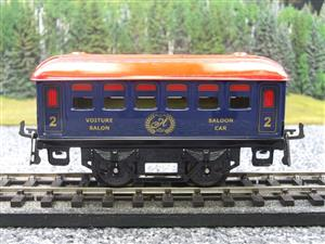 "Hornby Hachette Series French O Gauge Blue Red Roof ""Saloon"" 2nd Class Coach NEW Boxed image 5"