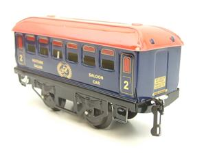 "Hornby Hachette Series French O Gauge Blue Red Roof ""Saloon"" 2nd Class Coach NEW Boxed image 6"