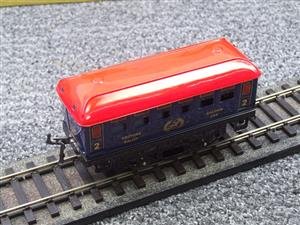 "Hornby Hachette Series French O Gauge Blue Red Roof ""Saloon"" 2nd Class Coach NEW Boxed image 7"