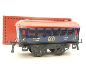 "Hornby Hachette Series French O Gauge Blue Red Roof ""Saloon"" 2nd Class Coach NEW Boxed image 10"