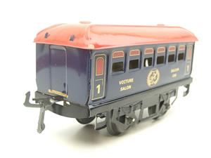 "Hornby Hachette Series French O Gauge Blue Red Roof ""Saloon"" 1st Class Coach NEW Boxed image 2"