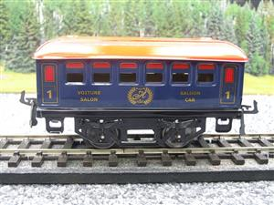 "Hornby Hachette Series French O Gauge Blue Red Roof ""Saloon"" 1st Class Coach NEW Boxed image 5"