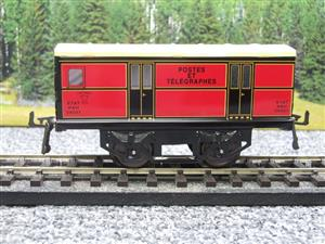 "Hornby Hachette Series French O Gauge ETAT Red Post Parcel ""Postes ET Telegraphes"" Van Wagon NEW Bxd image 5"