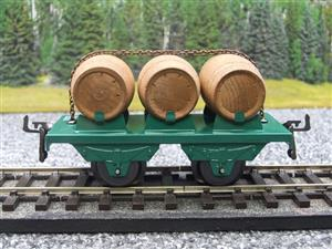 "Hornby Hachette Series French O Gauge Green Triple ""Barrel"" Wagon NEW Boxed image 5"