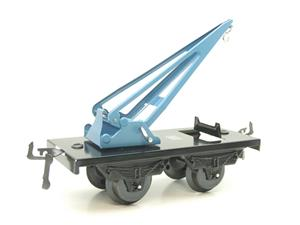 "Hornby Hachette Series French O Gauge 10 Ton ""Blue Crane Truck"" Wagon NEW Boxed image 4"