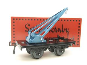 "Hornby Hachette Series French O Gauge 10 Ton ""Blue Crane Truck"" Wagon NEW Boxed image 10"