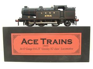 Ace Trains O Gauge E11A LNER Satin Black N2 Class 0-6-2 Tank Loco R/N 4744 Electric 2/3 Rail Boxed image 1