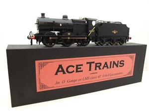 Ace Trains O Gauge E5H Fowler 4F Class 0-6-0 Loco and Tender R/N 44027 BR Post 57 Logo Satin Black image 3