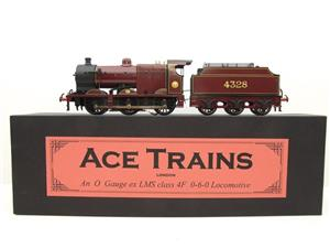 Ace Trains O Gauge E5A1 Fowler 4F Class 0-6-0 Loco and Tender R/N 4328 LMS Gloss Maroon Lined image 1