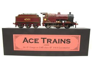Ace Trains O Gauge E5A2 Fowler 4F Class 0-6-0 Loco and Tender R/N 4301 LMS Gloss Maroon Lined image 1