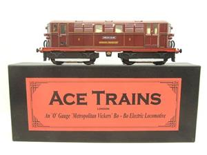 "Ace Trains O Gauge E17 London Transport Red Vickers Bo-Bo ""Sherlock Holmes"" Loco No 8 image 1"