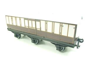 "Darstaed O Gauge ""LBSCR"" Six Wheel Full Brake Coach Boxed image 9"
