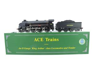 "ACE Trains O Gauge E/34-D1 Bulleid SR Wartime Satin Black 4-6-0 ""Excalibur"" 736 Elec 2/3 Rail image 1"