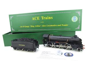 "ACE Trains O Gauge E/34-D1 Bulleid SR Wartime Satin Black 4-6-0 ""Excalibur"" 736 Elec 2/3 Rail image 2"