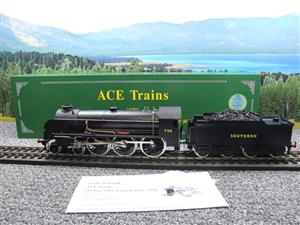 "ACE Trains O Gauge E/34-D1 Bulleid SR Wartime Satin Black 4-6-0 ""Excalibur"" 736 Elec 2/3 Rail image 3"