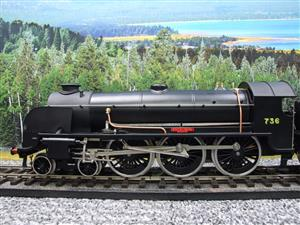 "ACE Trains O Gauge E/34-D1 Bulleid SR Wartime Satin Black 4-6-0 ""Excalibur"" 736 Elec 2/3 Rail image 5"