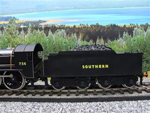 "ACE Trains O Gauge E/34-D1 Bulleid SR Wartime Satin Black 4-6-0 ""Excalibur"" 736 Elec 2/3 Rail image 6"