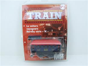 "Hornby Hachette Series French O Gauge No.2 Blue Red Roof Voiture ""Saloon"" 1st Class Coach NEW Pack image 1"